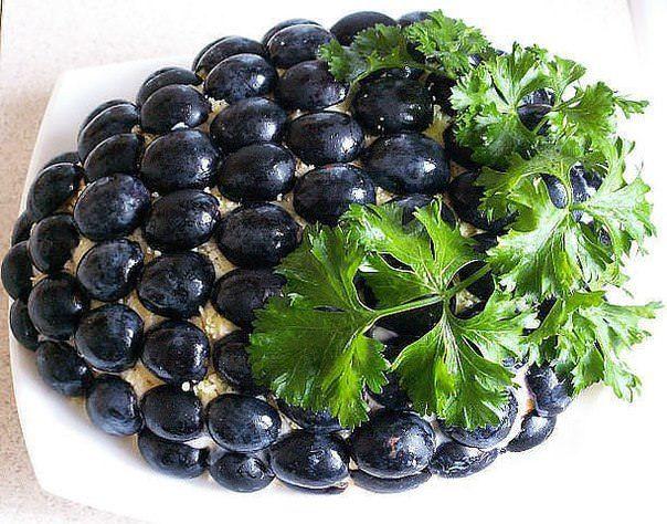 салат гроздь винограда