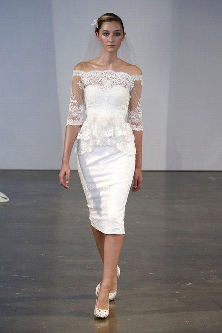 Короткое свадебное платье 2014 от Marchesa