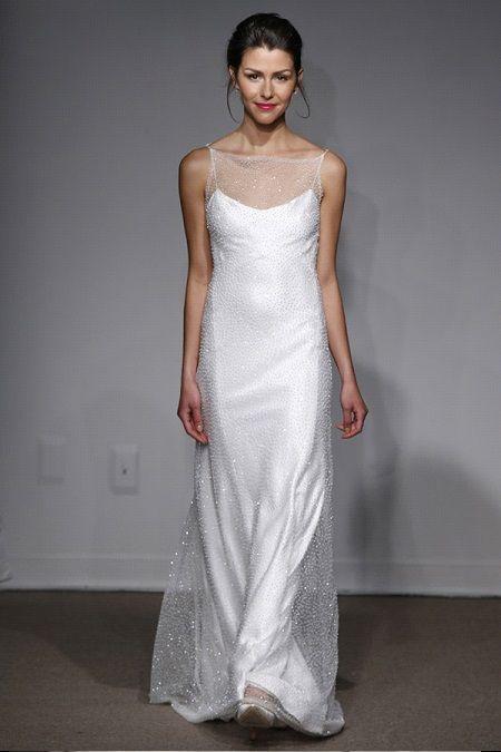 Свадебное платье 2014 фальш-декольтеAnna Maier