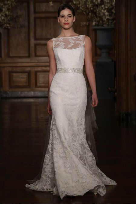 Свадебное платье 2014 фальш-декольтеRomona Keveza Legends