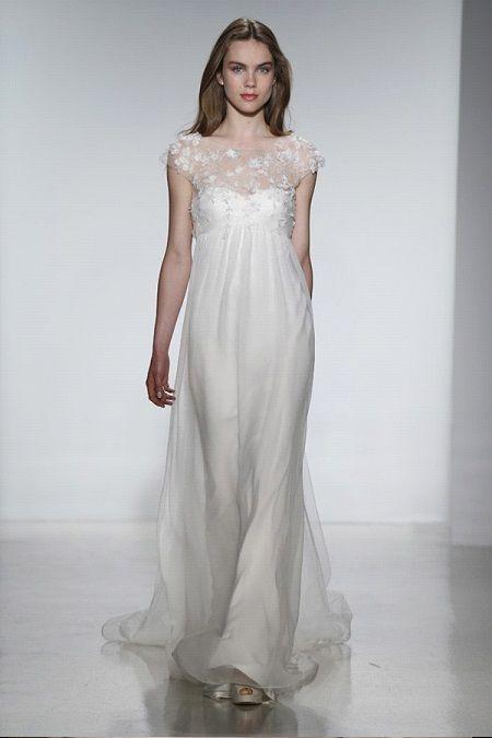 Свадебное платье 2014 фальш-декольтеChristos