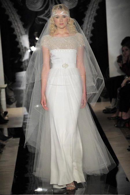 Свадебное платье 2014 в стиле ретро отReem Acra
