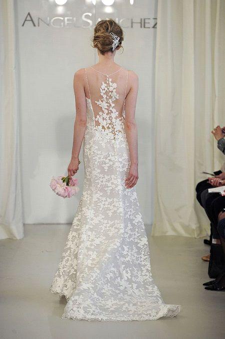 Свадебное платье 2014 секси спинка отAngel Sanchez