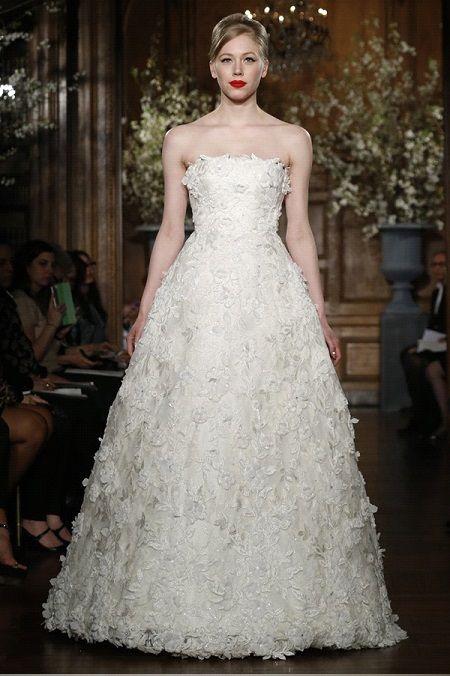Свадебное платье 2014 объёмные аппликации отRomona Keveza Couture