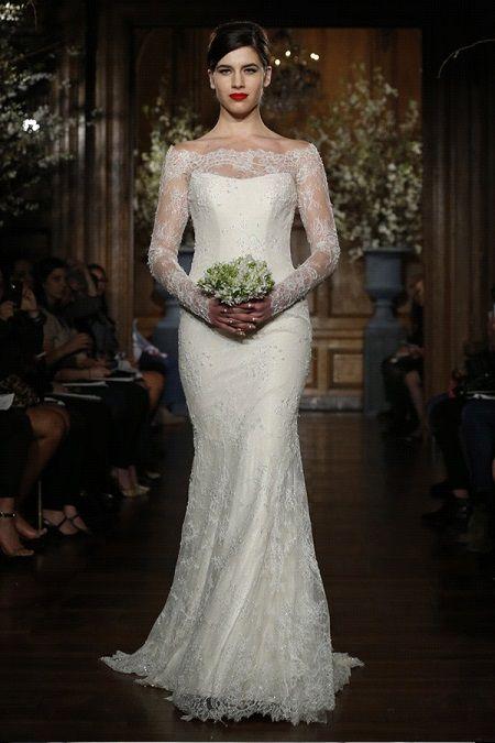Свадебное платье2014 длинный рукав Romona Keveza