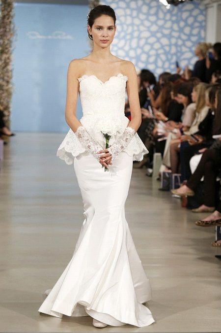Свадебное платье 2014 баскаот Oscar de la Renta