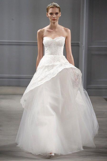 Свадебное платье 2014 баска отMonique Lhuillier