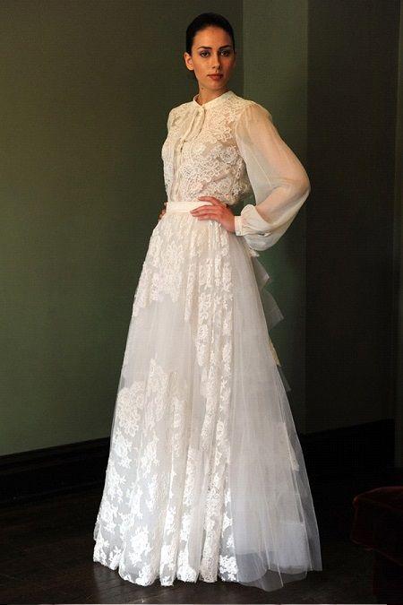 Свадебное платье2014 длинный рукавTemperley