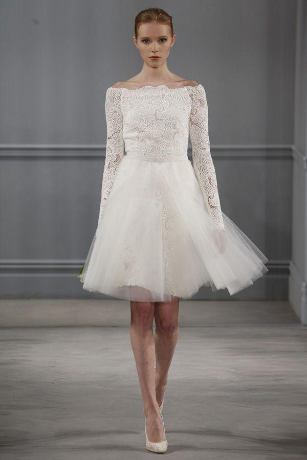Короткое свадебное платье 2014от Monique Lhuillier