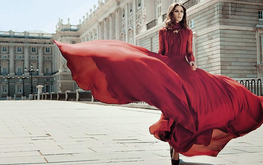 Красный цвет и женщина