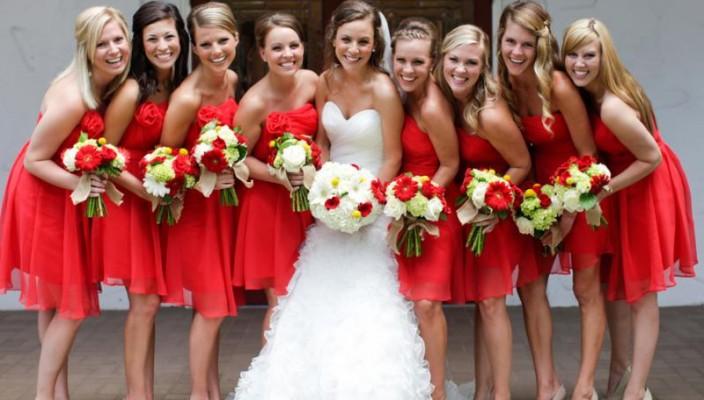 Одинаковые платья подружек невесты купить