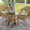 Плетеные предметы мебели в интерьере