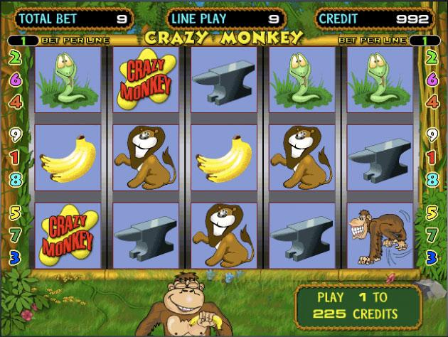 Crazy Monkey - Сумасшедшая Обезьяна игровой автомат