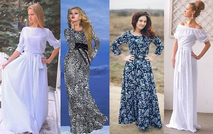 Платье летние повседневные длинные