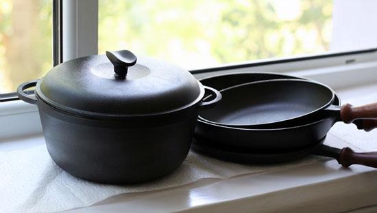 Плюсы чугунной посуды